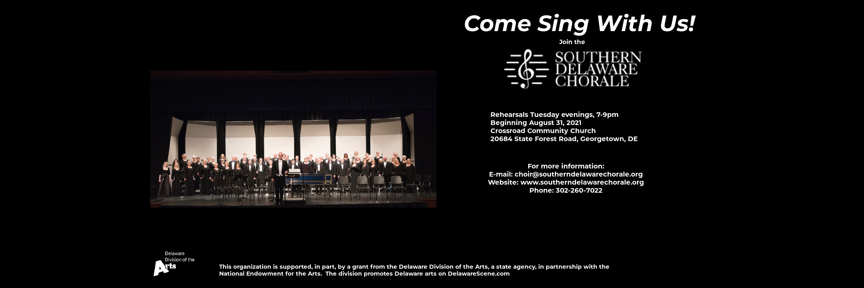 Come Sing With Us 2021 SDC Infograhic